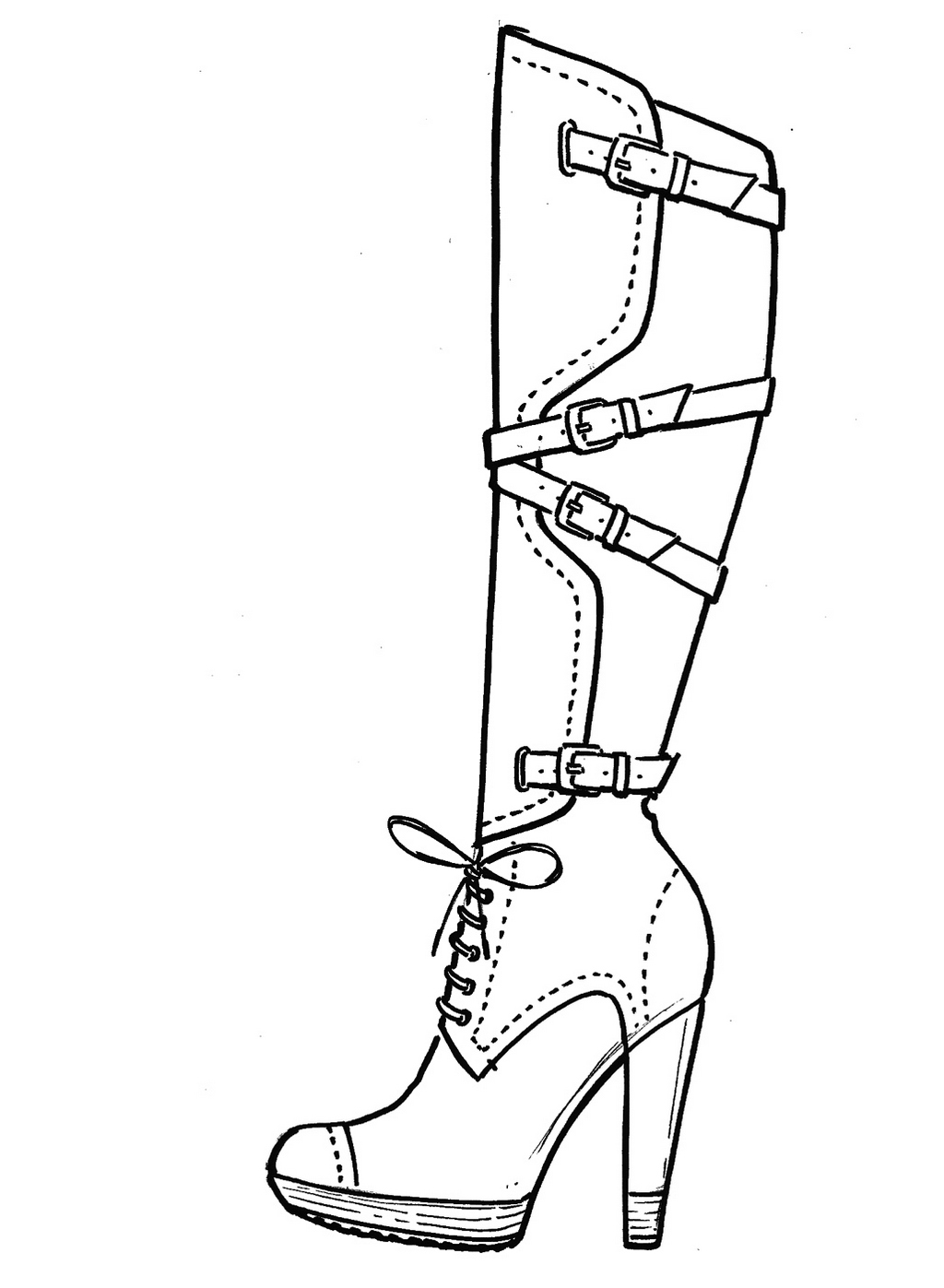 1024x1397 High Heels Coloring Pages To Melt Away Stress