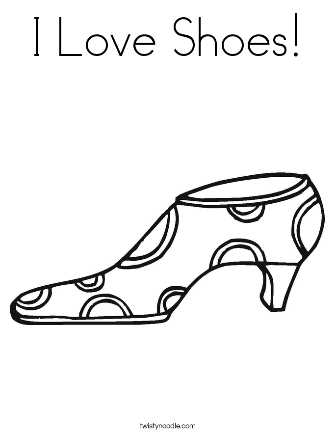 685x886 I Love Shoes Coloring Page