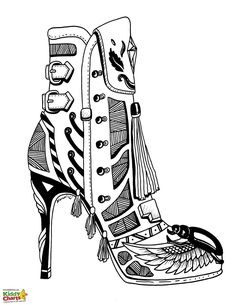 236x305 Modern High Heels Coloring Page Shoes Shoes Coloring Page