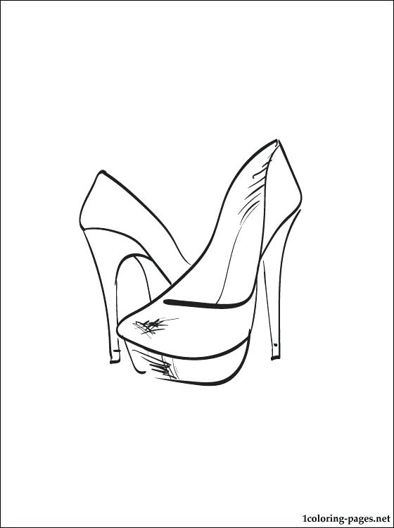 560x750 Shoes Coloring Page Free Printable Coloring Pages Click To See