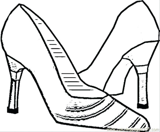 650x536 Shoes Pictures Color Shoes Coloring Page Free Coloring Pages Shoes