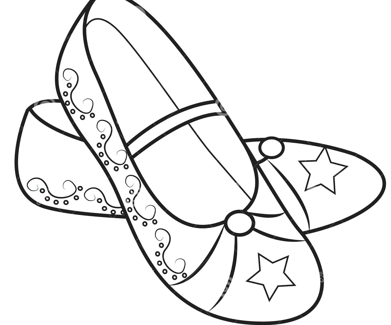 1300x1080 Wonderful Shoe Coloring Sheet High Heel Page Free Printable Pages