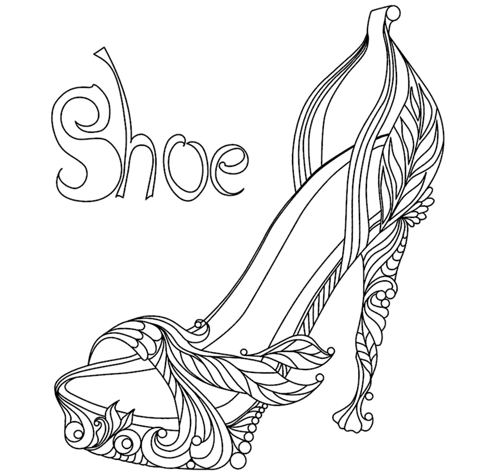 1536x1511 Coloring Pages High Heel Shoes Copy Shoe Coloring Page Shoes