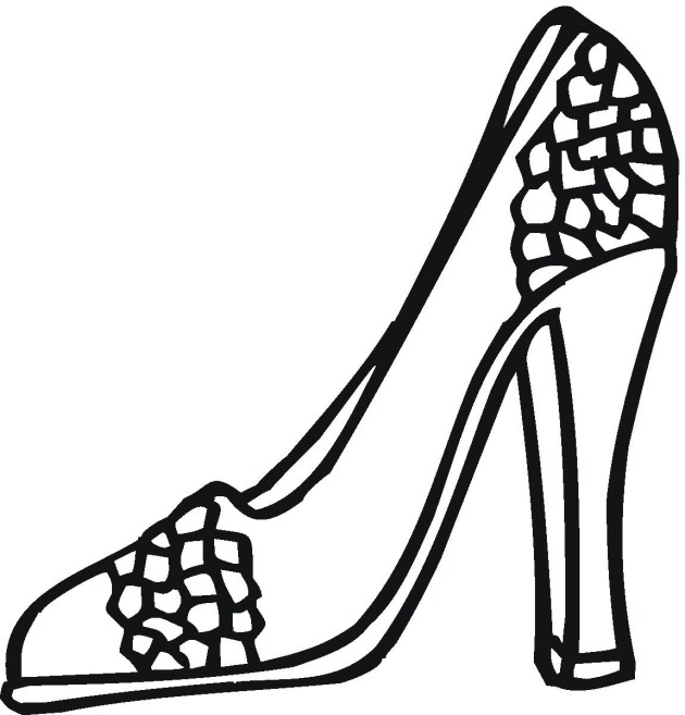 630x657 High Heel Coloring Page Download