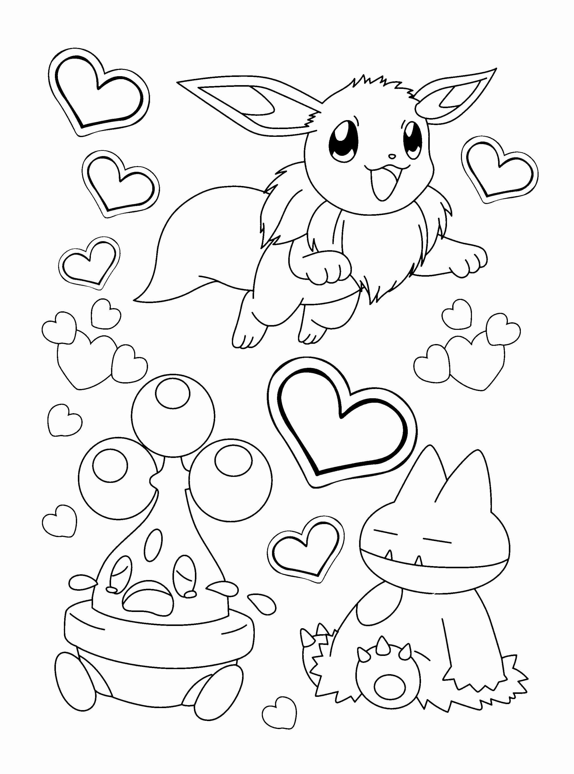 2300x3100 Eevee Evolutions High Quality Coloring Pages Printable Remarkable
