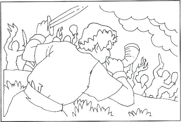 575x390 Gideon Coloring Page Coloring Page Coloring Pages Chooses Coloring