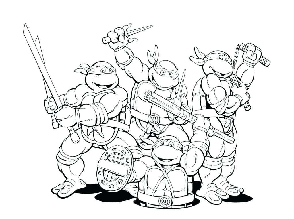 1024x765 Ninja Color Pages Ninja Coloring Pages Printable Ninja Turtle