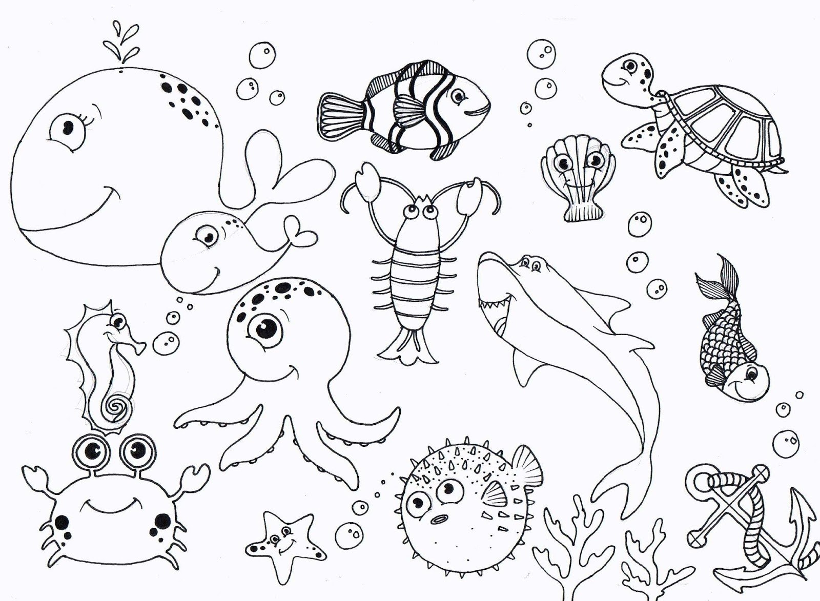 1600x1173 Under The Sea Coloring Pages Best Of Under Sea Coloring Pages High