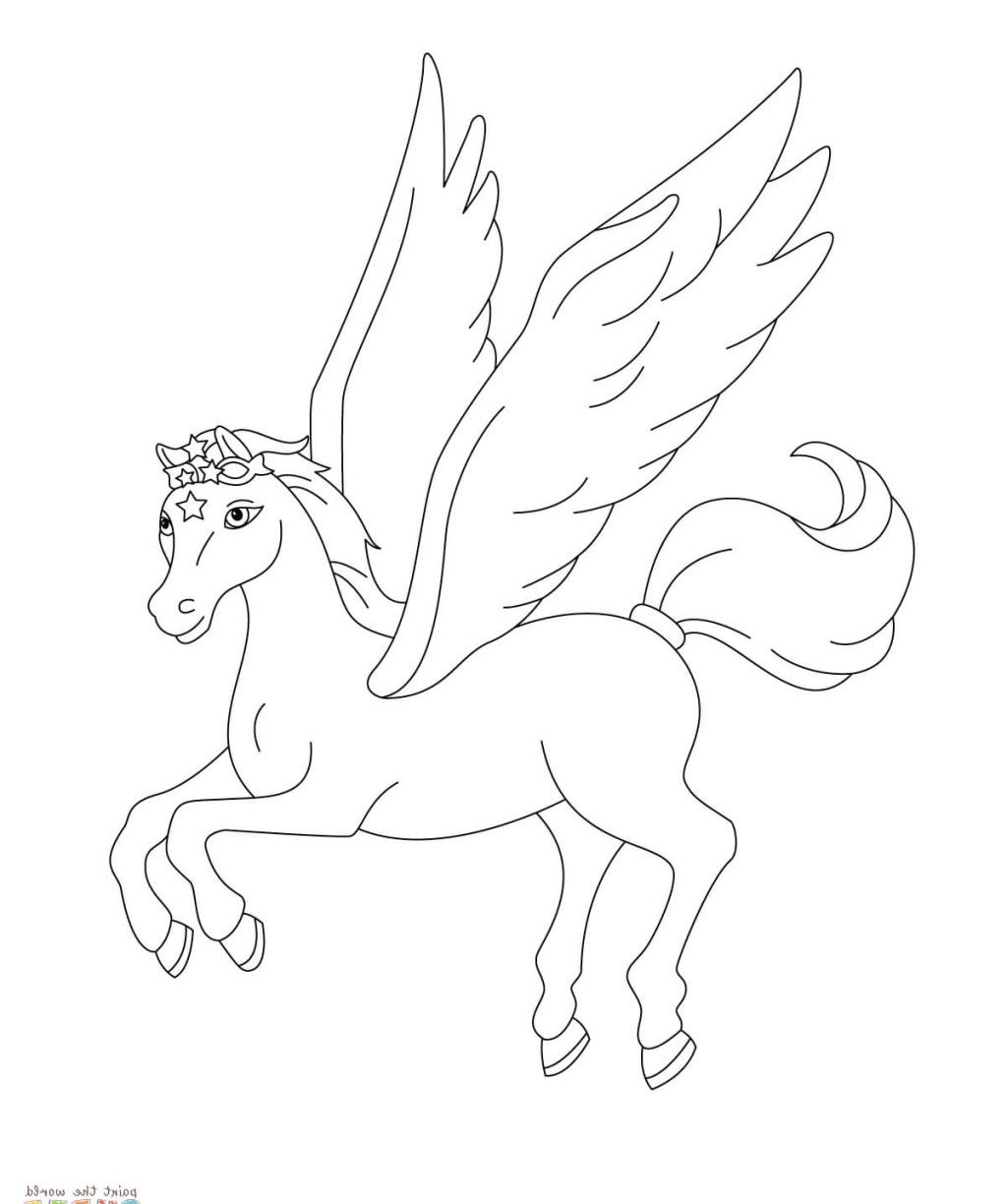 1024x1224 Unlimited Cute Pegasus Coloring Pages Pegasusoring With Wallpaper