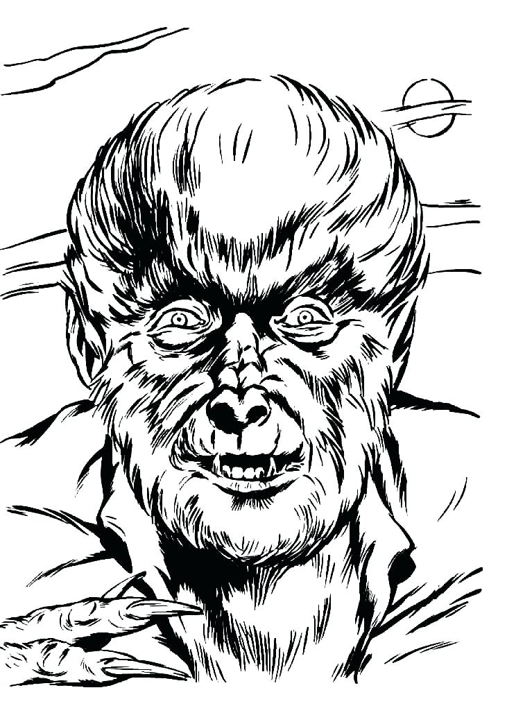 731x1031 Wolfman Coloring Pages High Quality Coloring Books Coloring Page