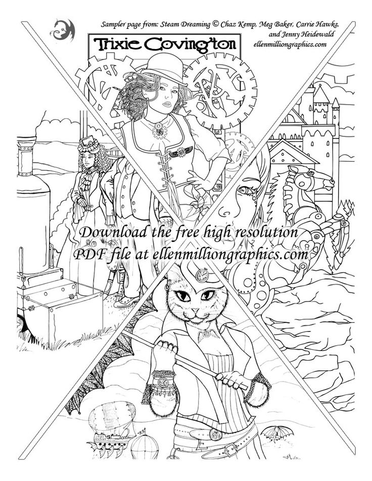 High Res Coloring Pages