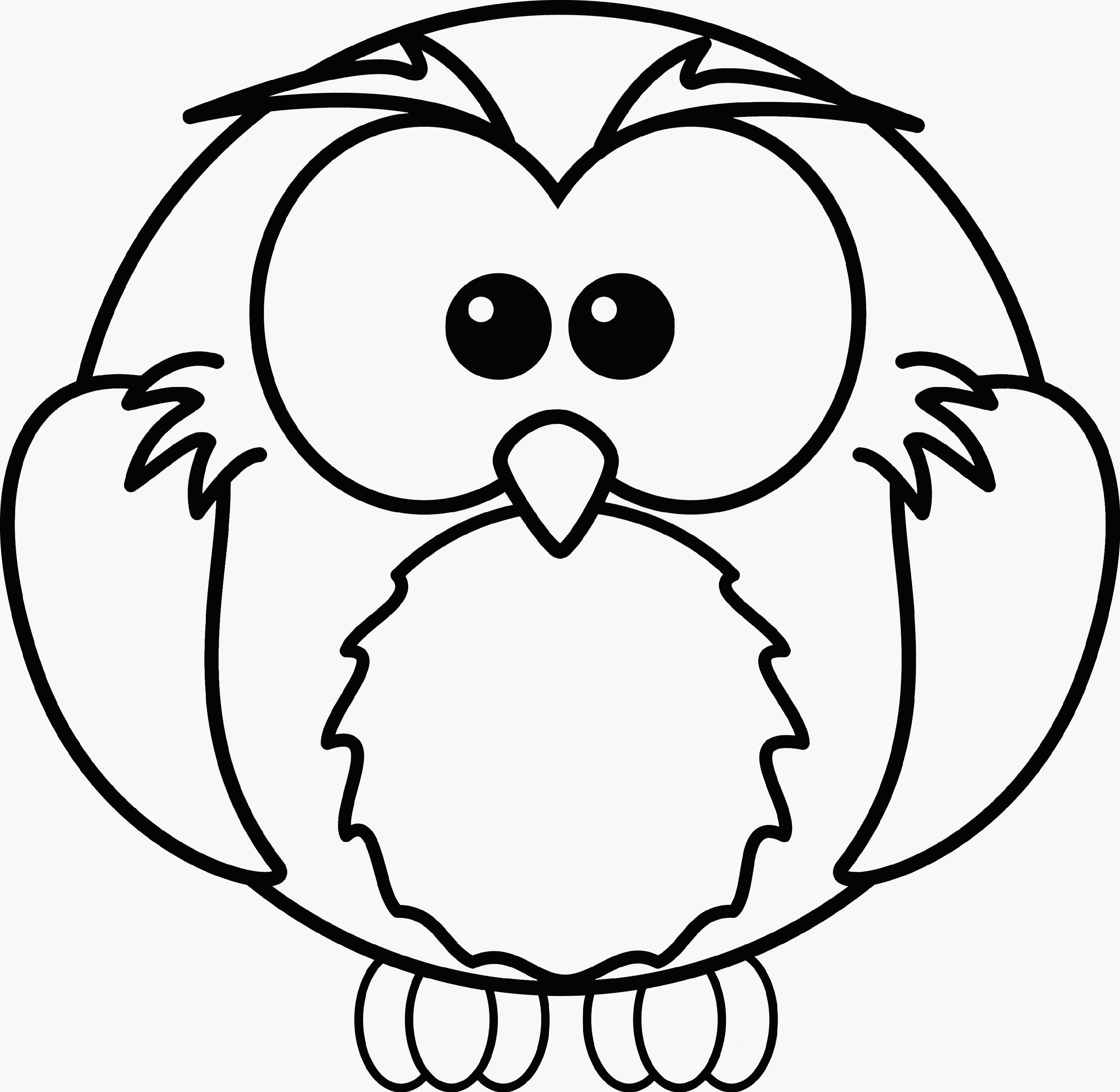 3183x3104 Adult Owl Coloring Page
