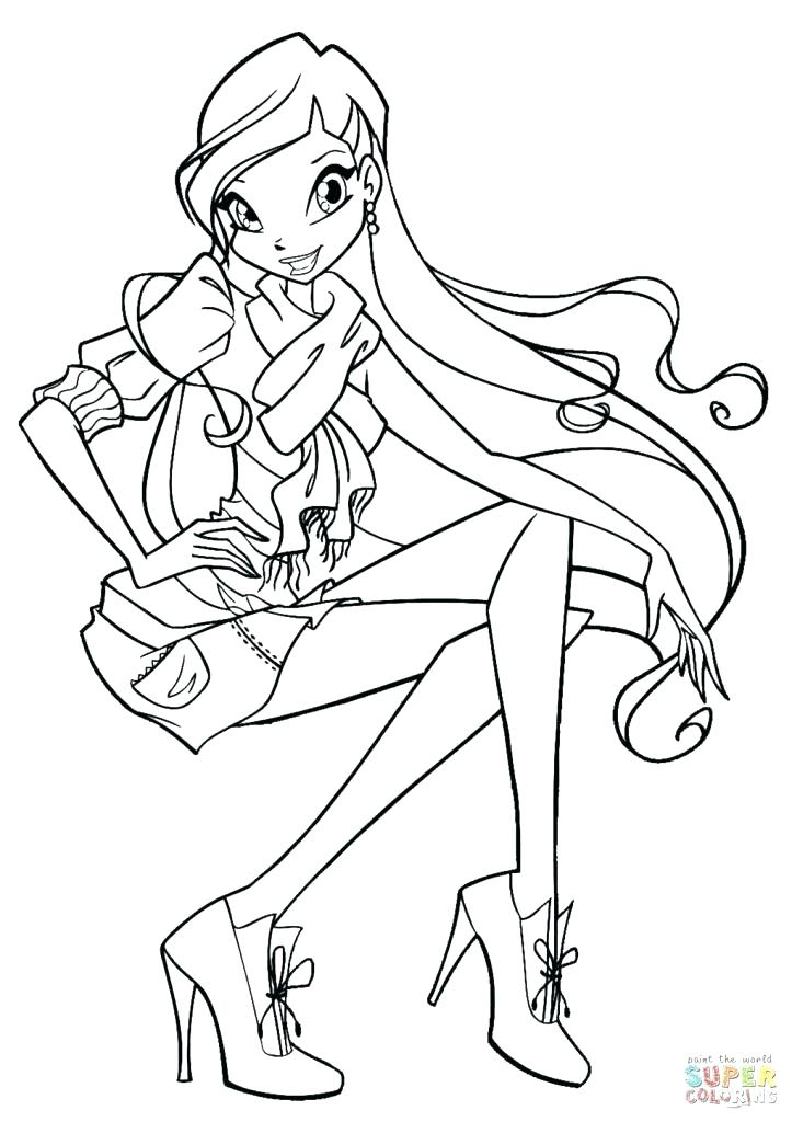 723x1024 Winx Coloring Pictures Coloring Pages High Definition Coloring