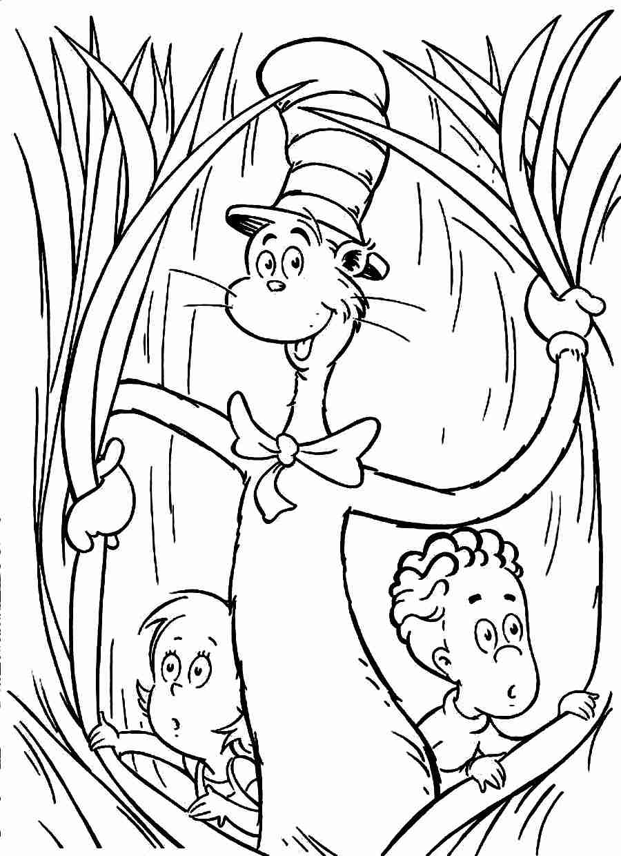 900x1240 Cat In The Hat Coloring Pages Images High Resolution Pdf Printable
