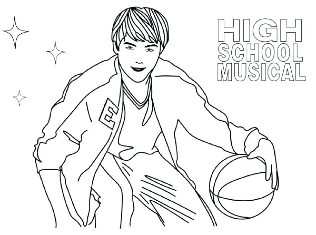 1024x761 Musical Coloring Pages High School Musical Coloring Pages