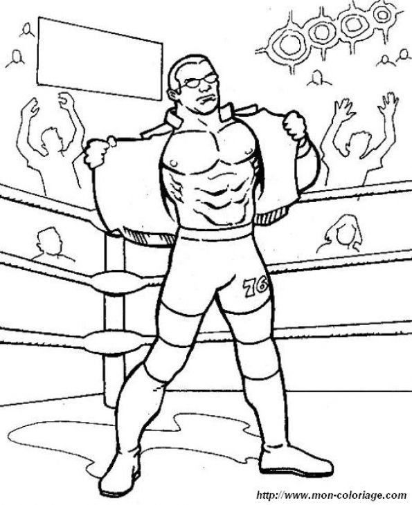 High School Wrestling Coloring Pages