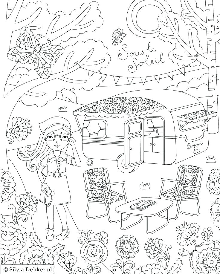 736x917 Camping Coloring Pages To Print Camping Coloring Pages Campfire