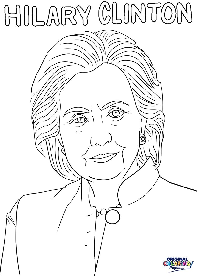 815x1138 Hilary Clinton Coloring Page Coloring Pages Original Coloring