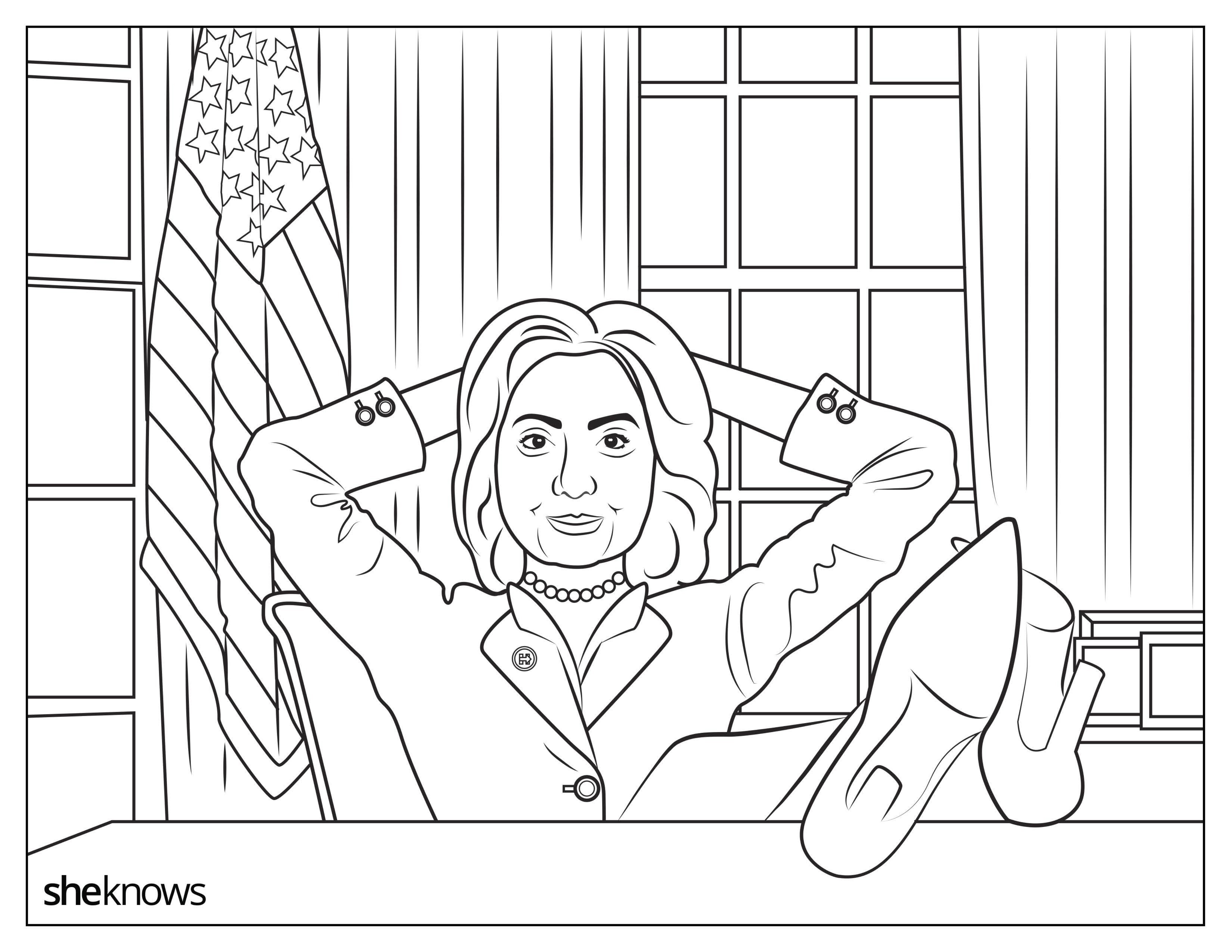 6875x5312 This Hillary Clinton Coloring Book Is Jam Packed With Girl Power