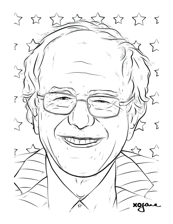 600x776 Color Away Election Season Stress With These Candidate Coloring Pages