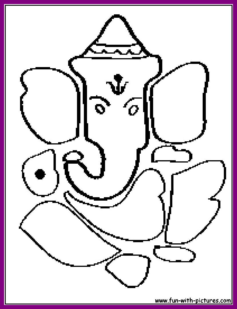 Hindu Coloring Pages