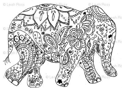 400x291 Best Y Blank Pattern Elephants Images On Coloring