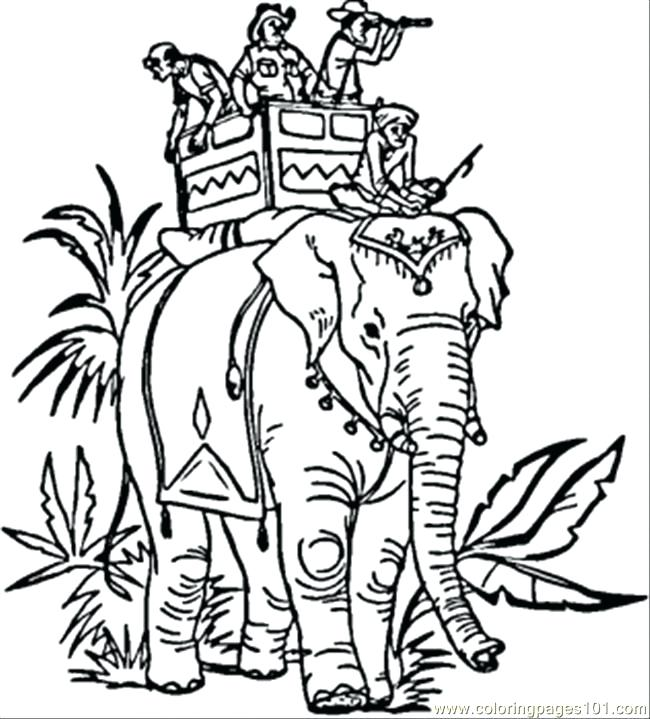 650x719 India Coloring Page Colouring Pages N Elephant Coloring Page Free