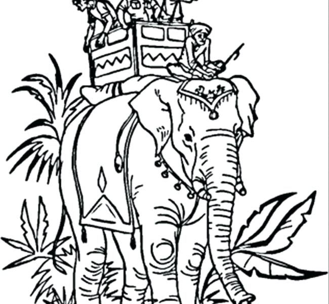650x600 Indian Colouring Pages Indian Elephant Coloring Page Free India