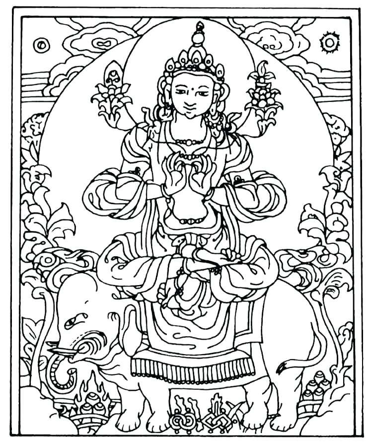 743x900 Mythology Gods And Goddesses Printable Drawing Mythology Hindu