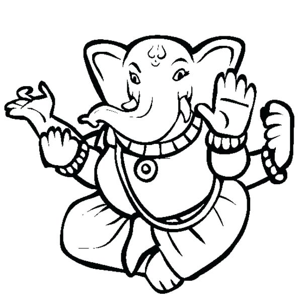 600x612 Hindu Coloring Pages