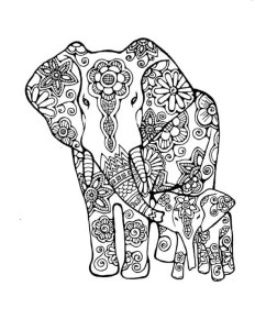 232x300 Adult Coloring Pages Elephant, Coloring Book Art Colouring Book