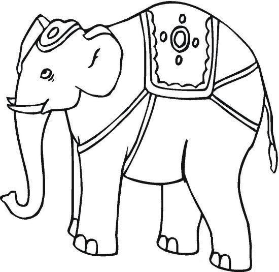 550x535 Asian Elephant Coloring Pages