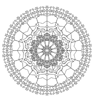 Hindu Mandala Coloring Pages