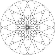236x236 Hindu Mandala Coloring Page From Simple Mandalas Category Select