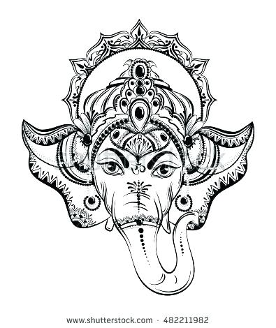 395x470 Hinduism Coloring Pages Coloring Pages Lord Vector Illustration