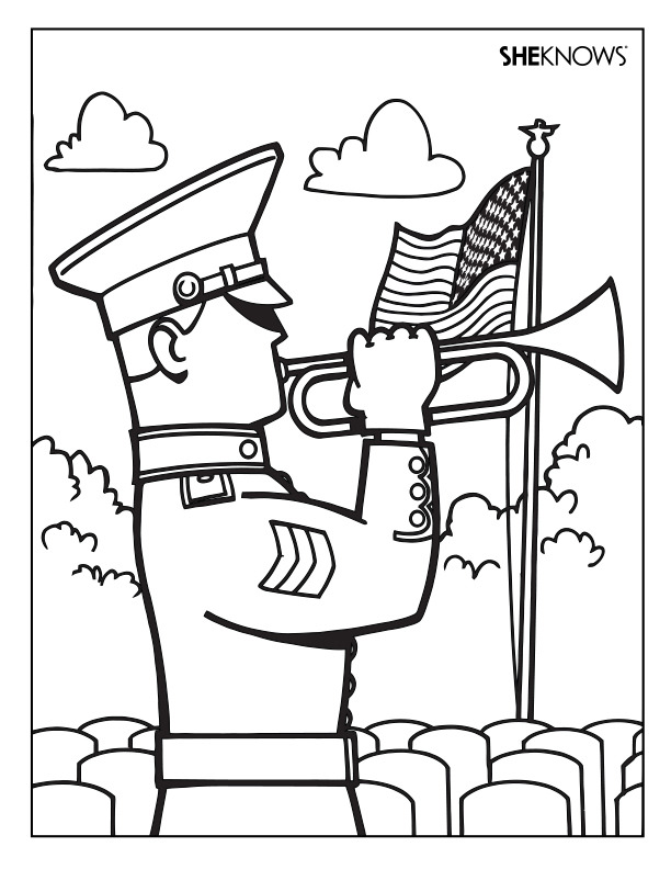 612x792 Memorial Day Soldier Coloring Pages