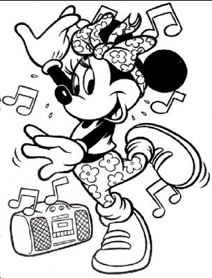 305x400 Minnie Mouse Hip Hop Dance Coloring Pages Gtgt Disney Coloring Pages