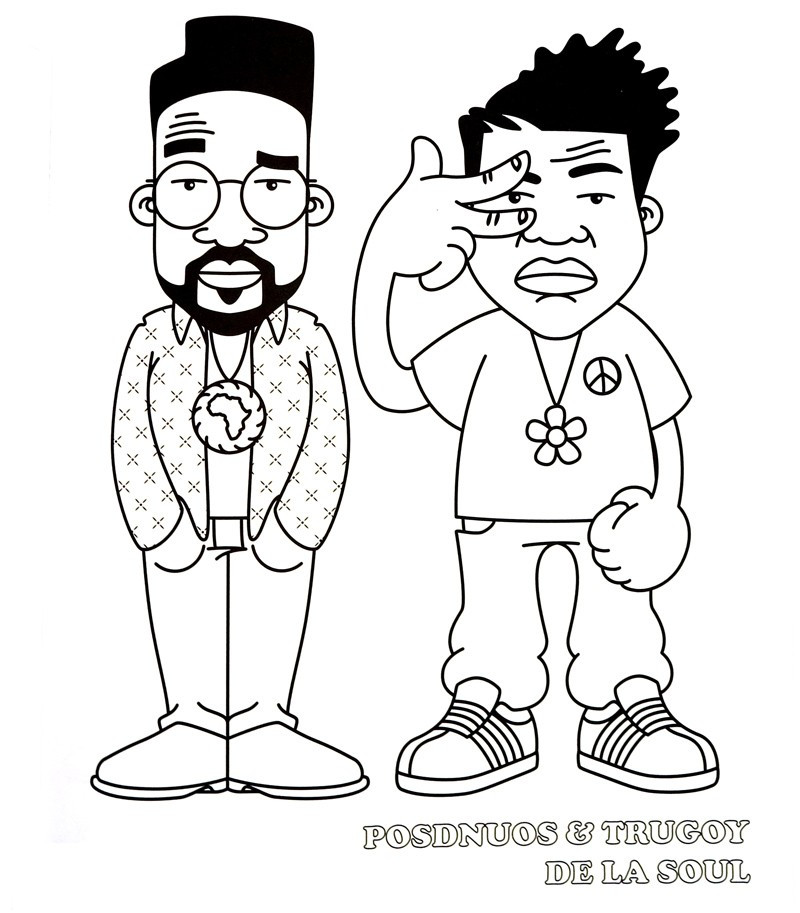 800x913 Delightful Design Hip Hop Coloring Book Artoyz
