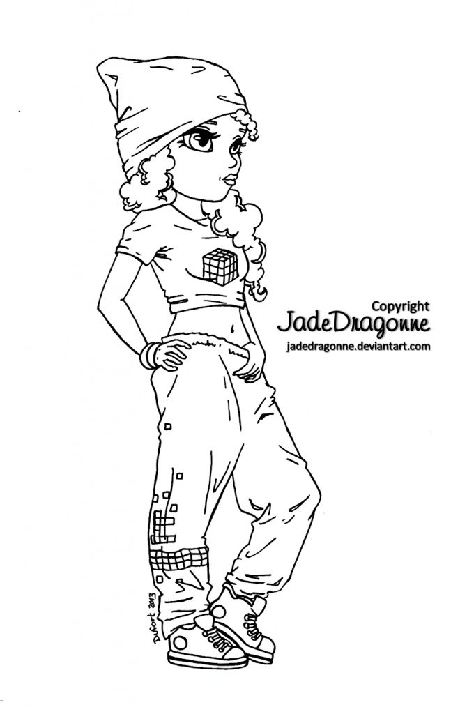 670x1024 Hip Hop Coloring Sheets
