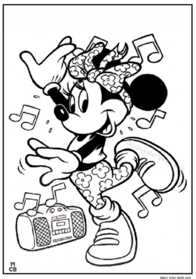 685x975 Minnie Mouse Hip Hop Dance Coloring Pages