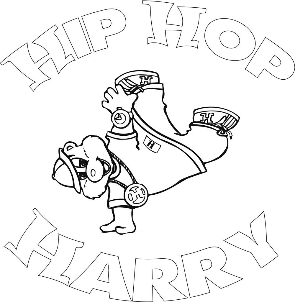 1000x1024 Coloring Pages Of Hip Hop