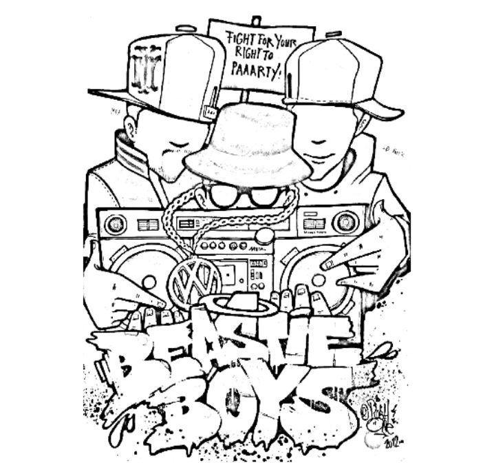 718x672 Hip Hop Coloring Pages
