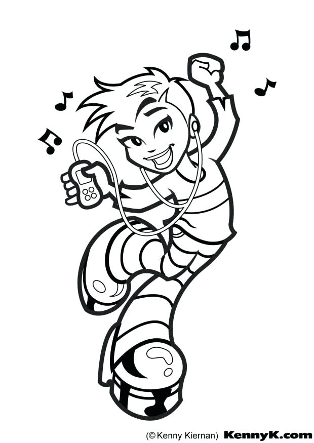 Hip Hop Dance Coloring Pages At Getdrawings Free Download