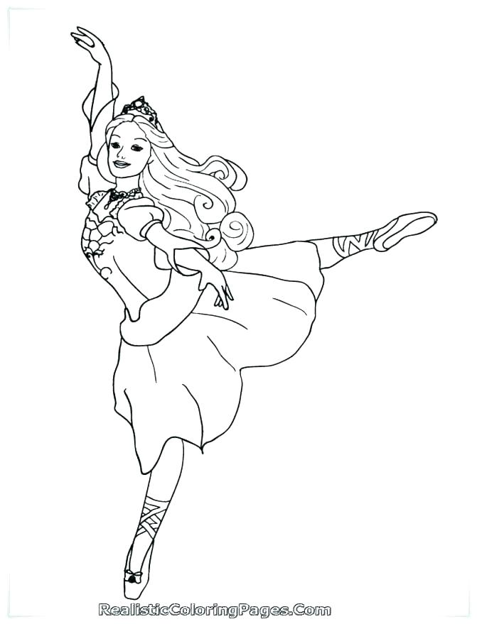 671x879 Dance Coloring Page Ballerina With Ponytail Coloring Page Free
