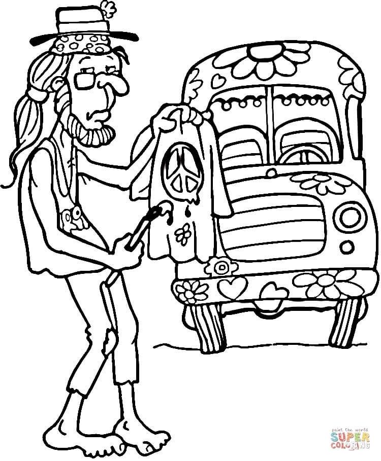 750x909 Hippie Coloring Pages Adorable Hippie Coloring Pages Hippie Man