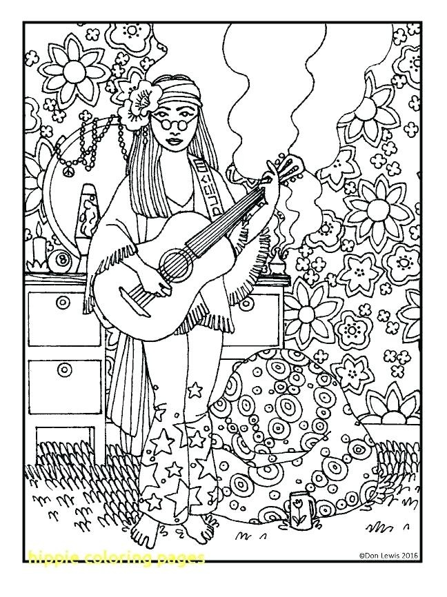 648x866 Hippie Coloring Pages Delightful Decoration Hippie Coloring Pages
