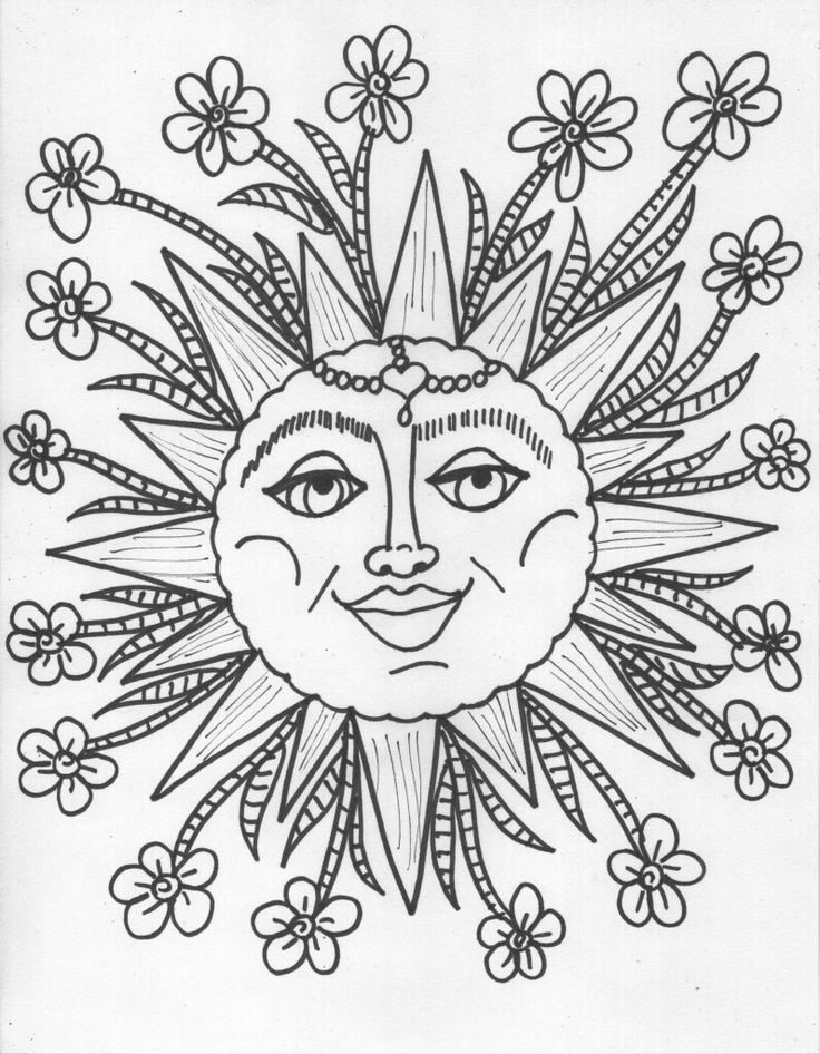 Hippie Coloring Pages Printable At Getdrawings Com Free For
