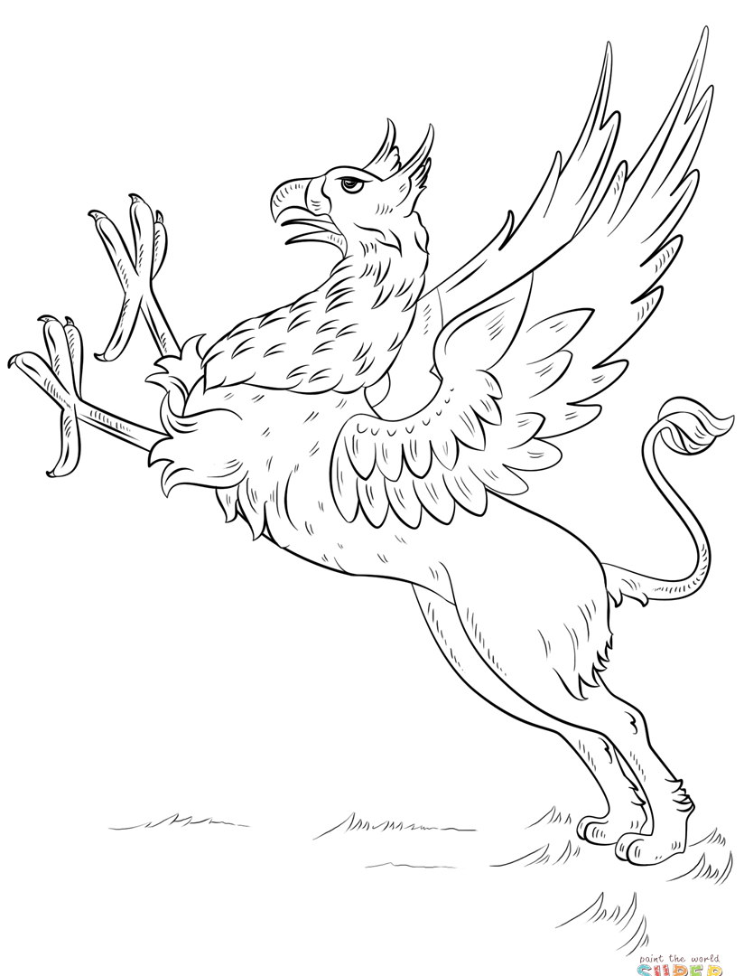 824x1080 Unsurpassed Gryphon Coloring Pages Unusual For Kids Adults Sheet