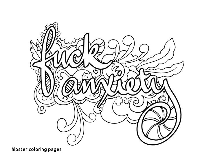 Hipster Coloring Pages