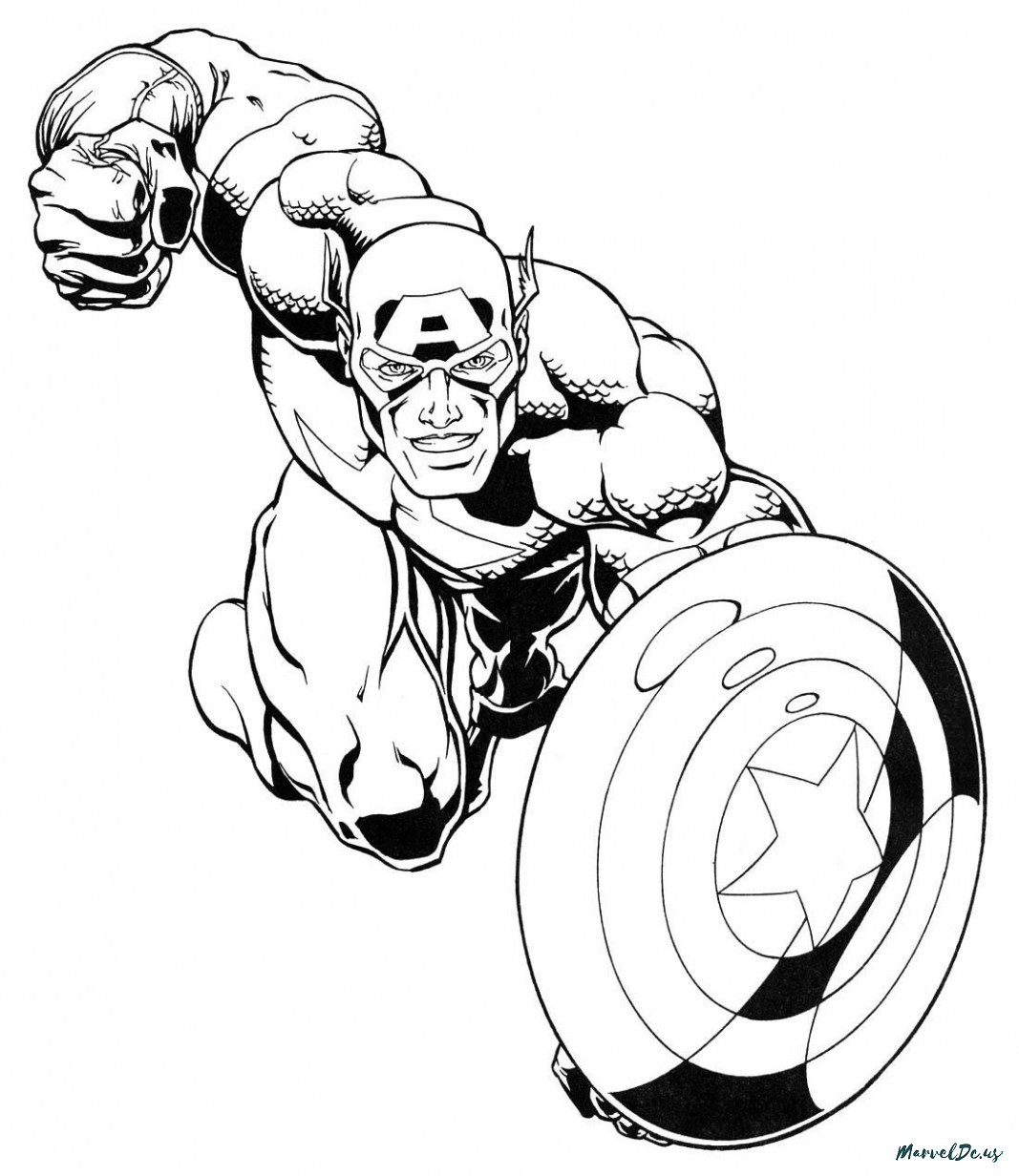 1067x1232 Delivered Marvel Coloring Pages For Adults Free Page Adult Captain